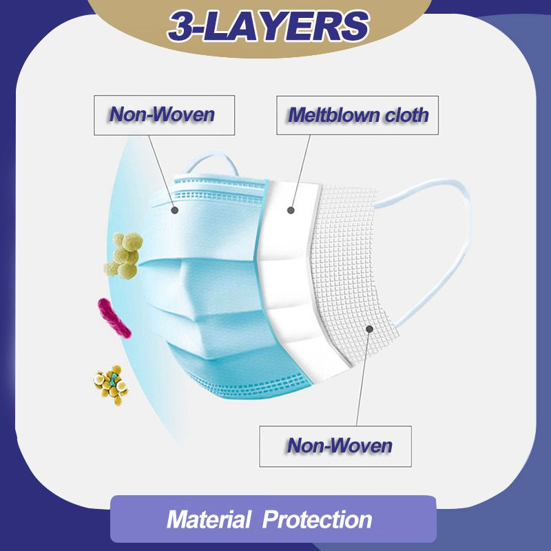 Disposable 3 layer safety breathable Mask Anti Virus masks
