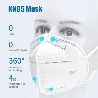 Disposable Kn95 Mask En149 FFP2 Ce  Non-Woven Fabric Coronavirus Protection