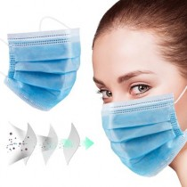 IN-STOCK 100000Pcs 3 Layer Disposable Face Masks